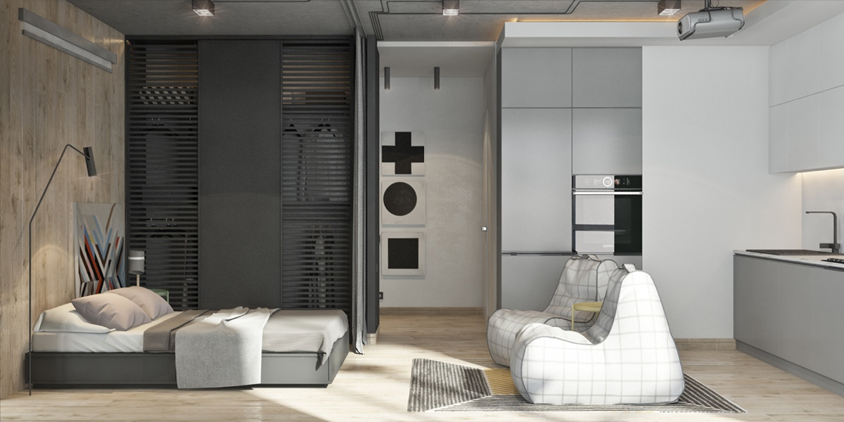 minimalist gray apartment design