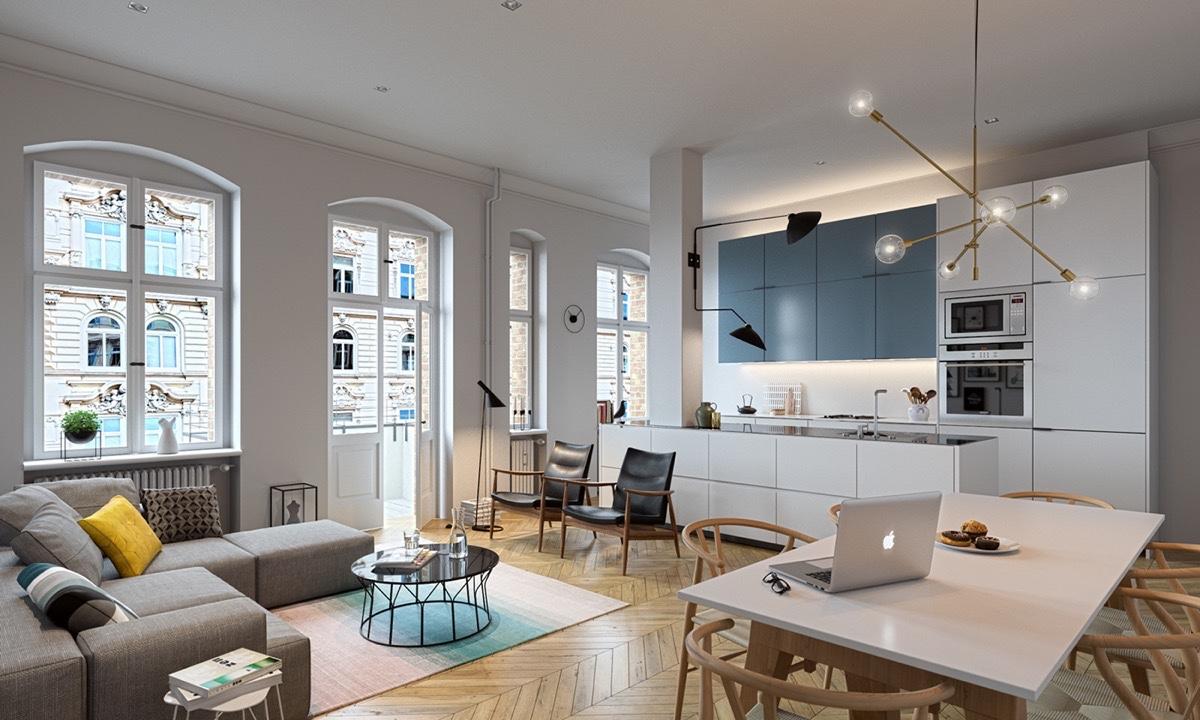 open plan interior designs