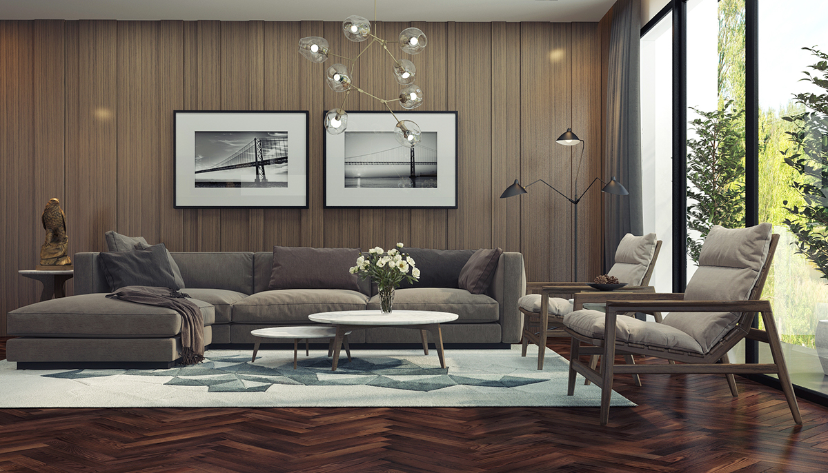 Adorable Living Room Designs With Wooden And Chic Features Decorating Ideas In It