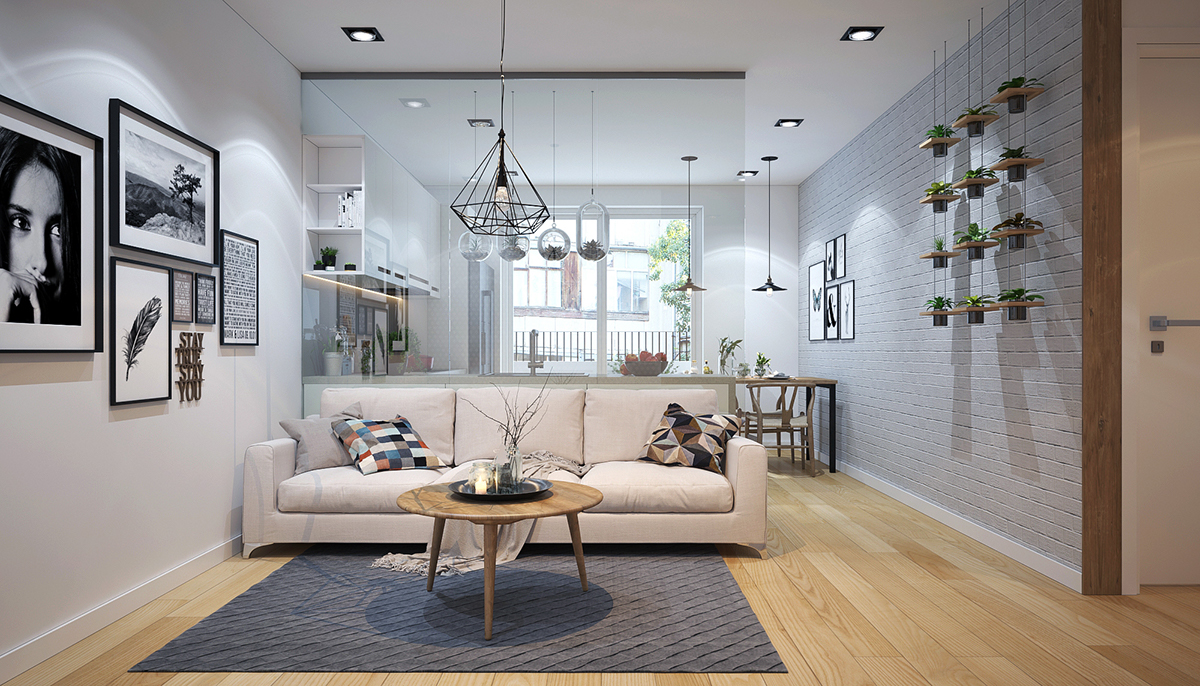 white awesome living room