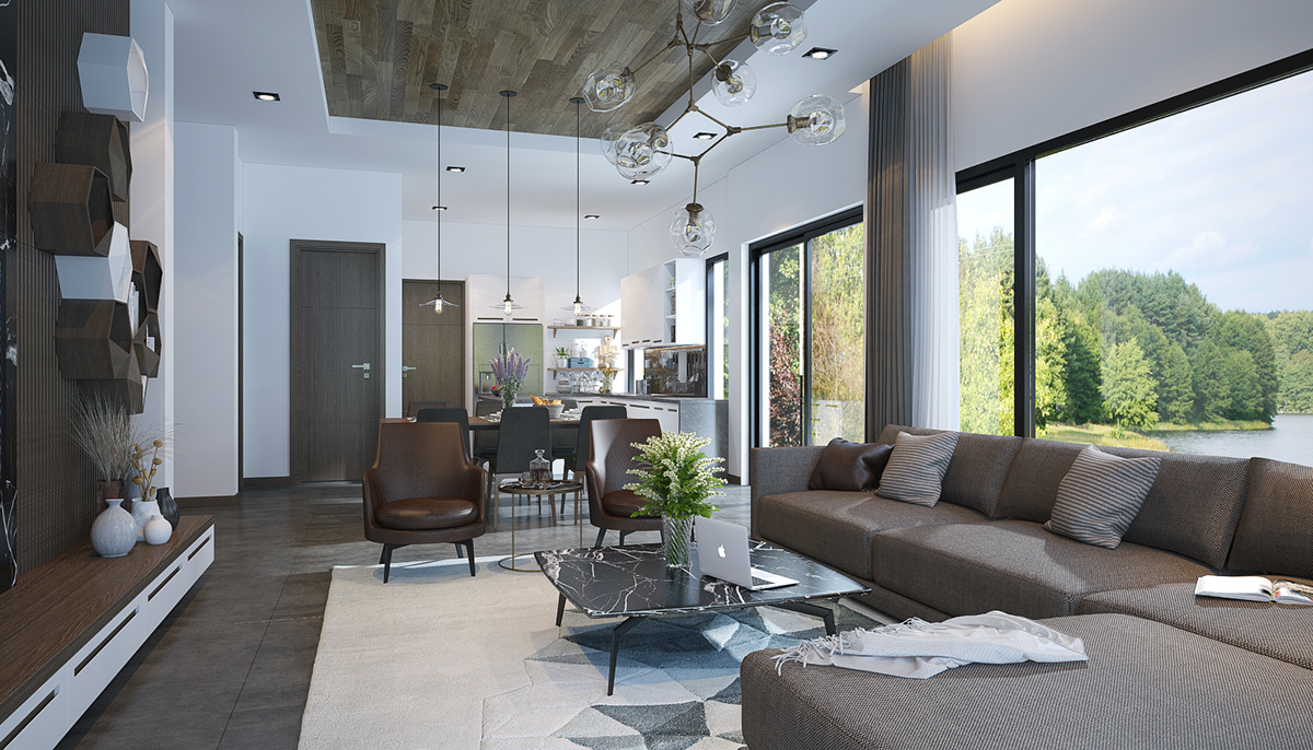 Open Plan Living Room Decorating Adorable Living Room Designs With Wooden And Chic Features