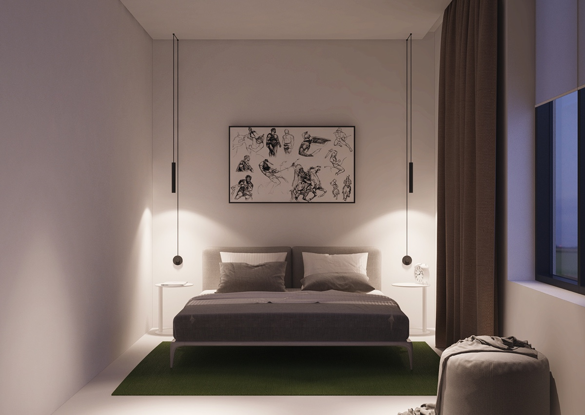 bedroom-with-colorful-rug