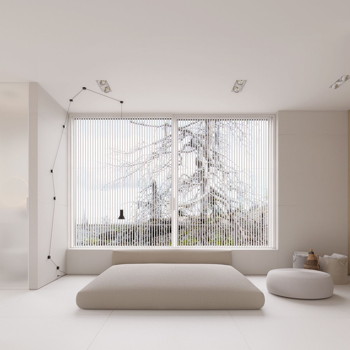 big-windows-simple-double-bed-white-carpet