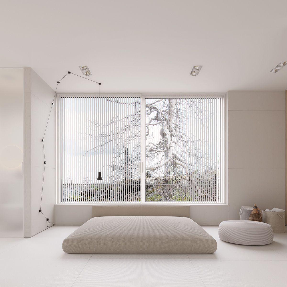 big-windows-simple-double-bed-white-carpet