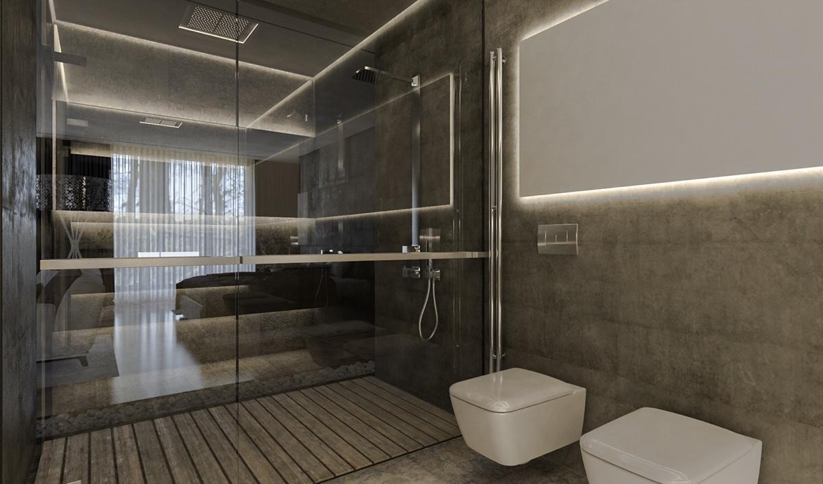 charming gray bathroom