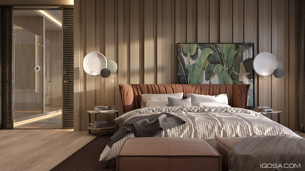 forest-green-and-brown-bedroom