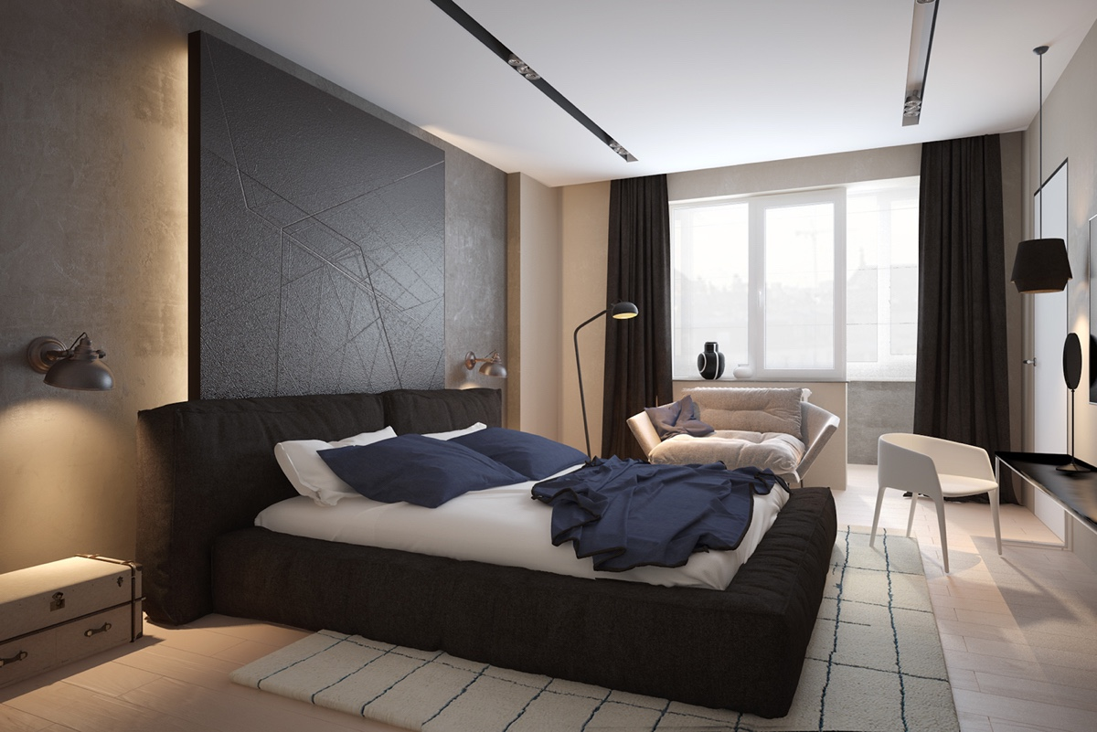 geometric-headboard-futon-bed-stylish-bedroom