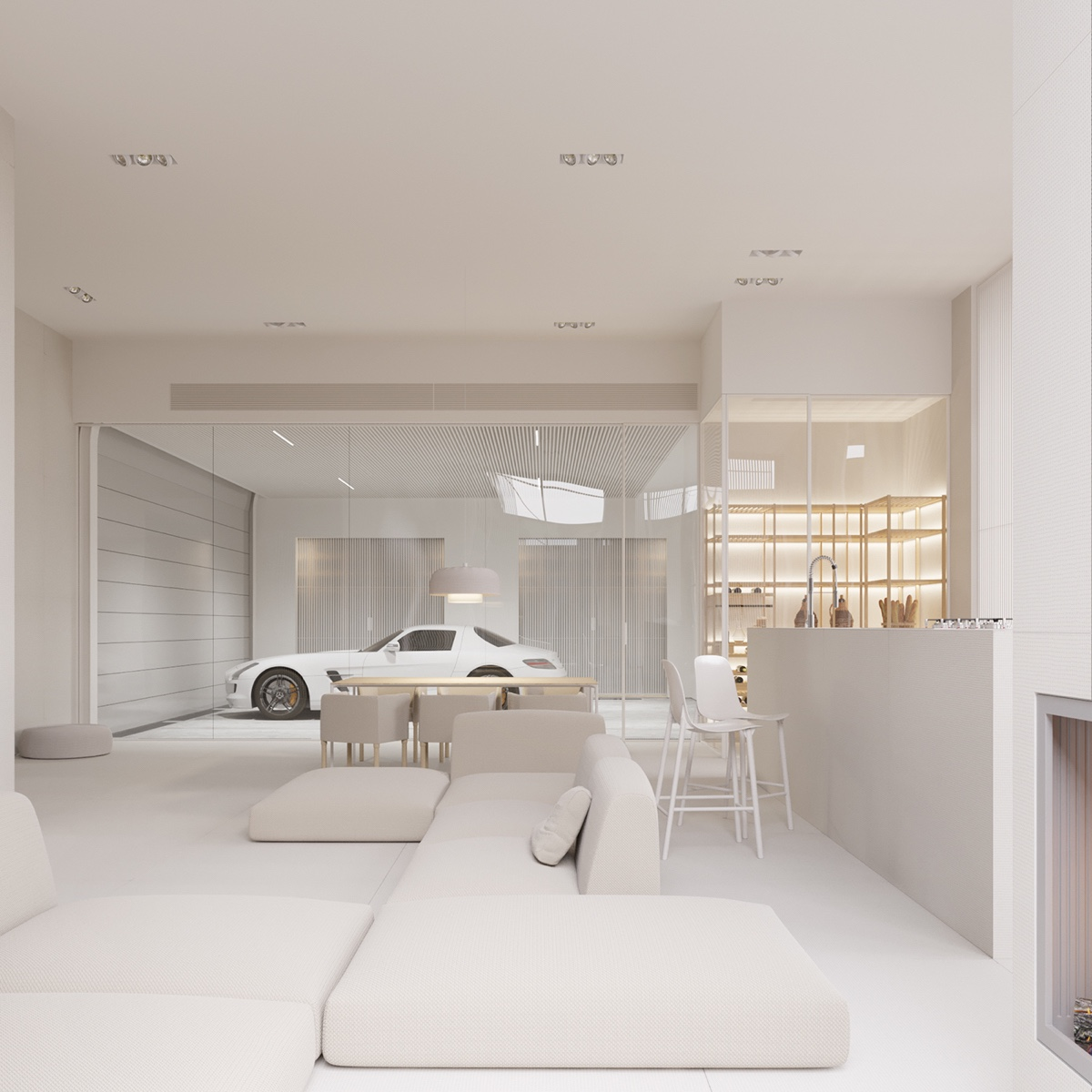 glass-wall-garage-white-living-room