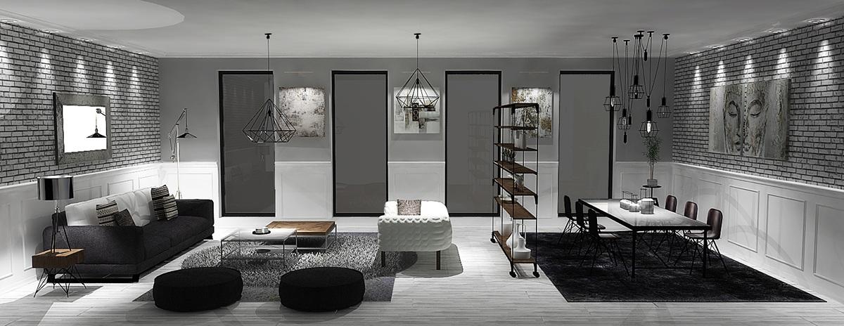 grayscale-luxury-interiortall-window-dining