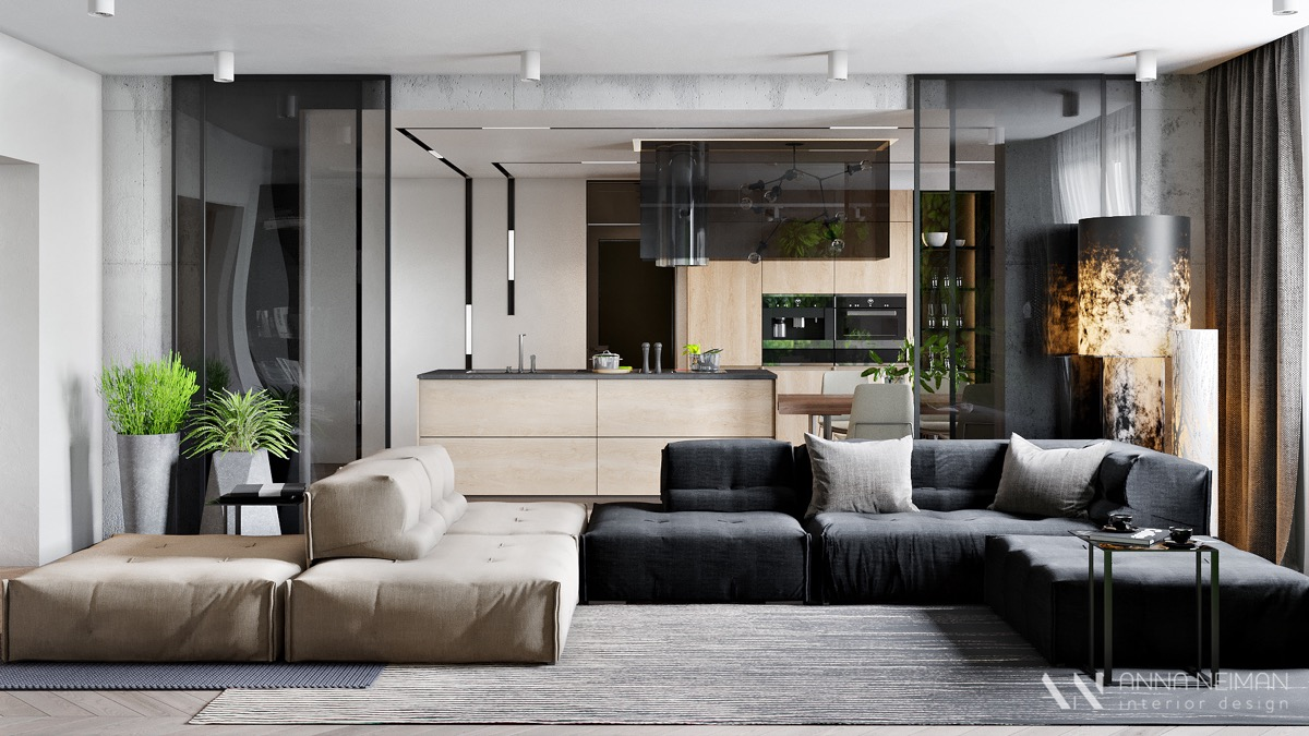 grey-Sectional-Living-Kitchen
