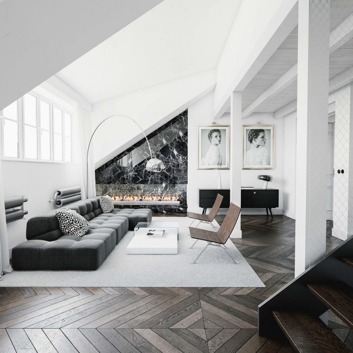 black and white living room designs