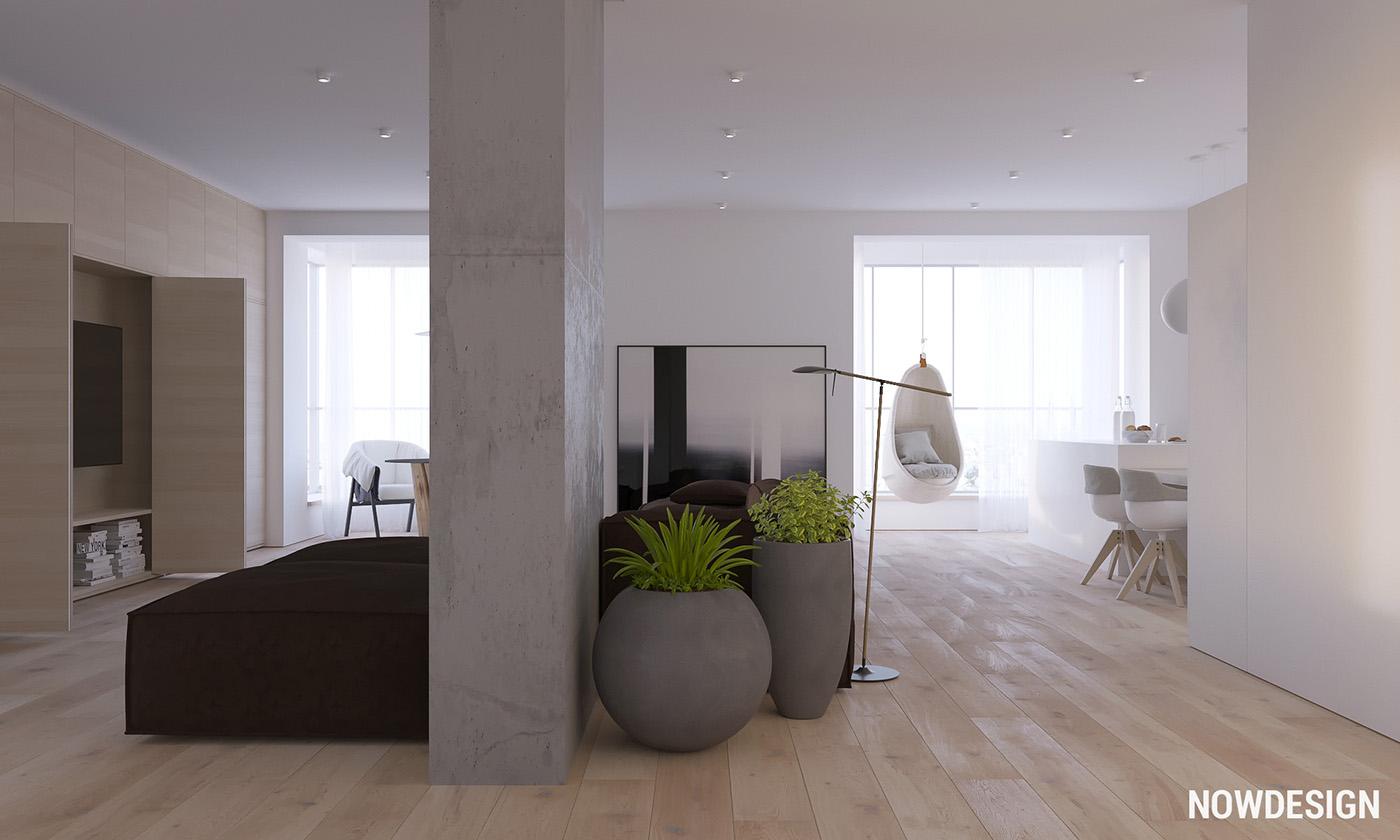 minimalist wooden apartment