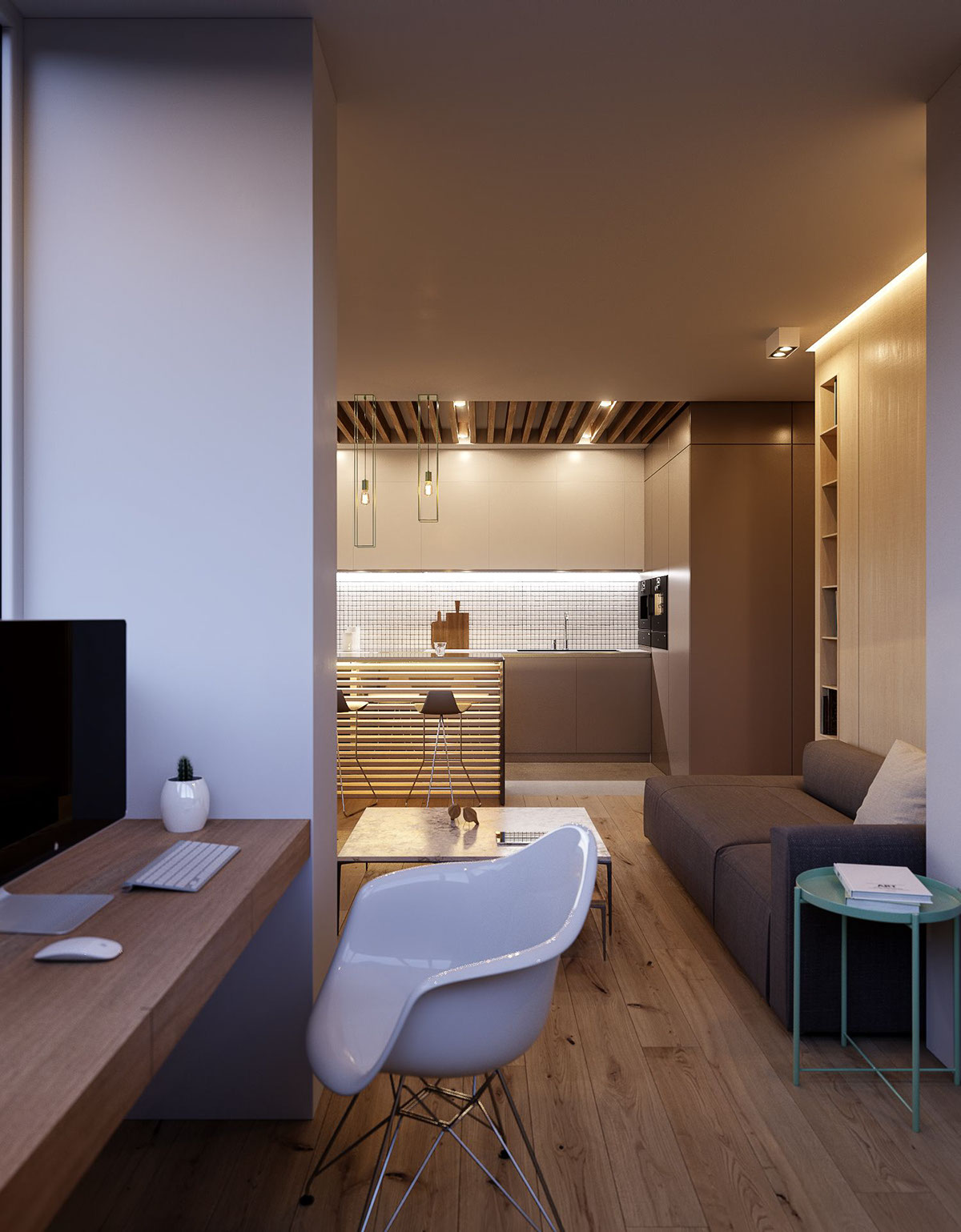 Decent Study Rooms: Variety Of Minimalist Apartment Designs Which Suitable To