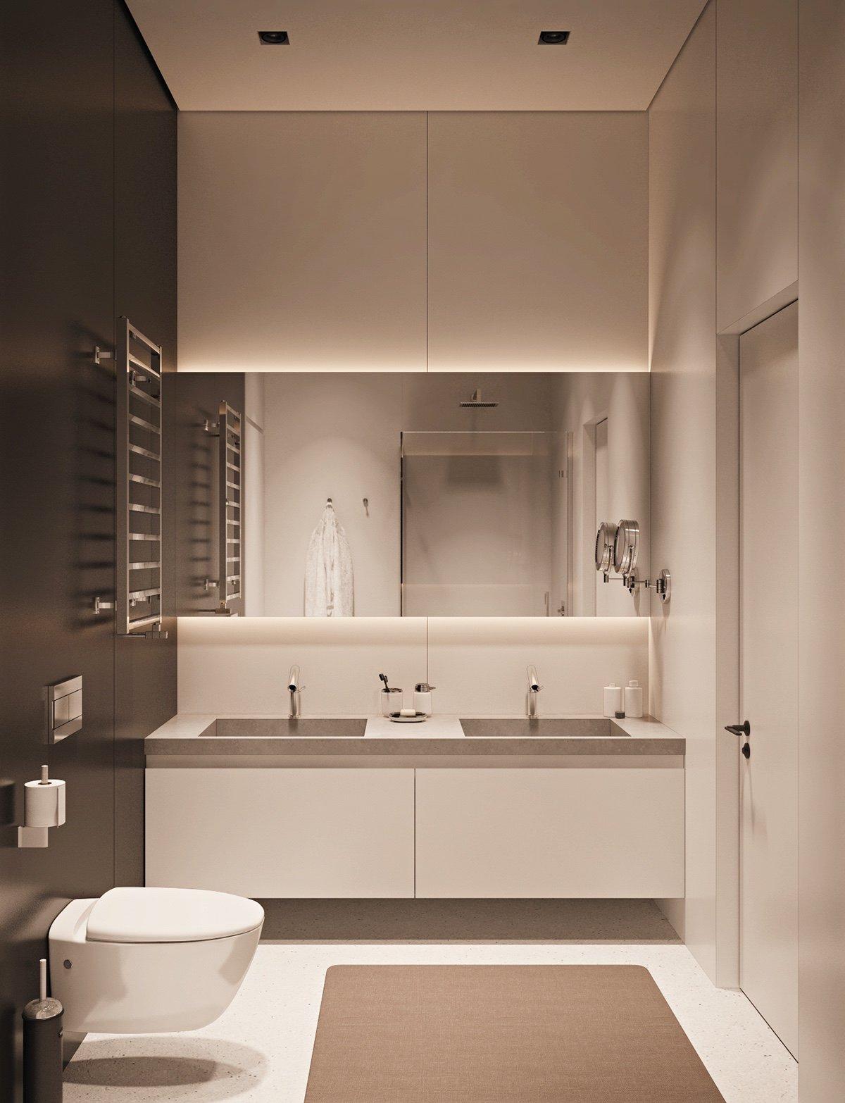 monochromatic-bathroom design
