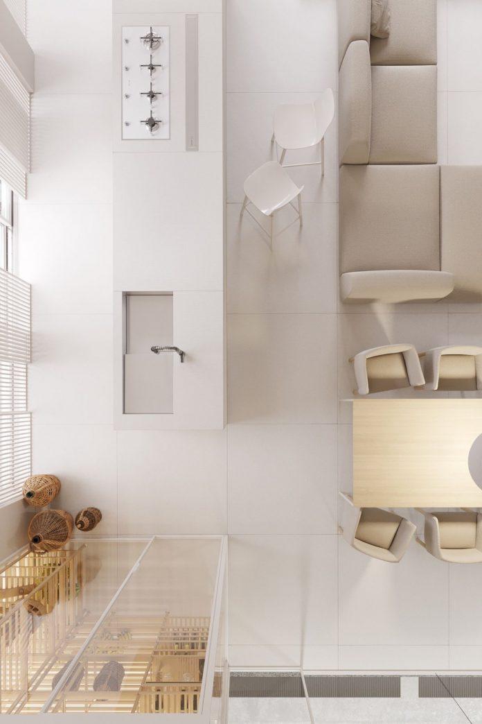 white luxury house design