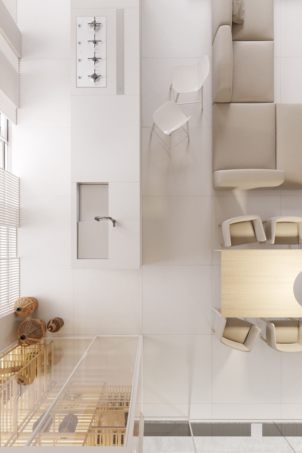 White Luxury House Design With Awesome and Perfect Features Inside