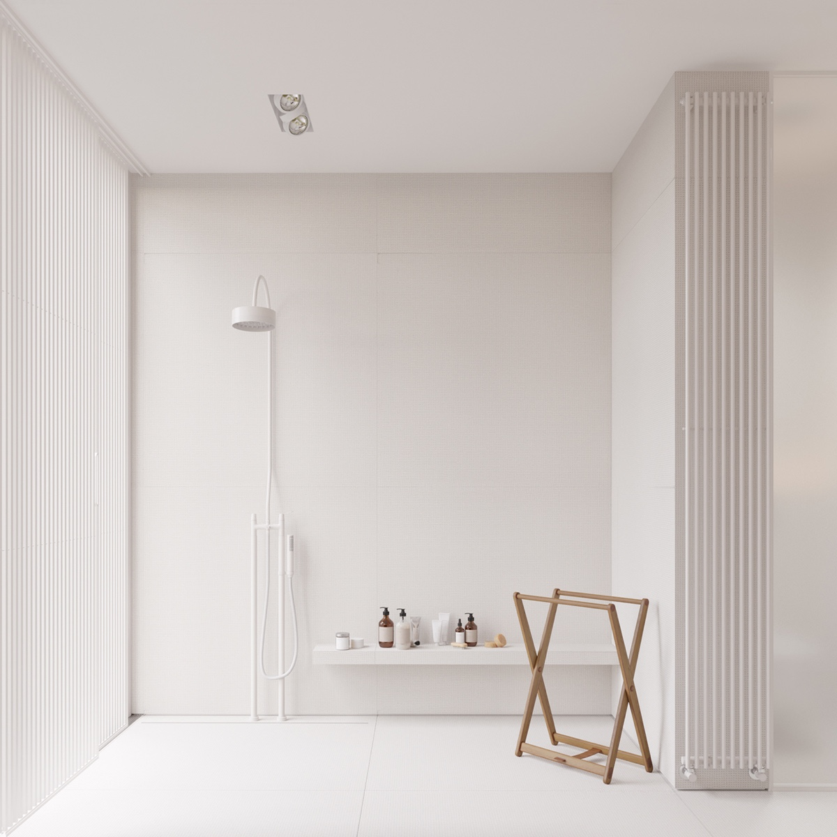 open-shower-white-bathroom-bathroom-accessory
