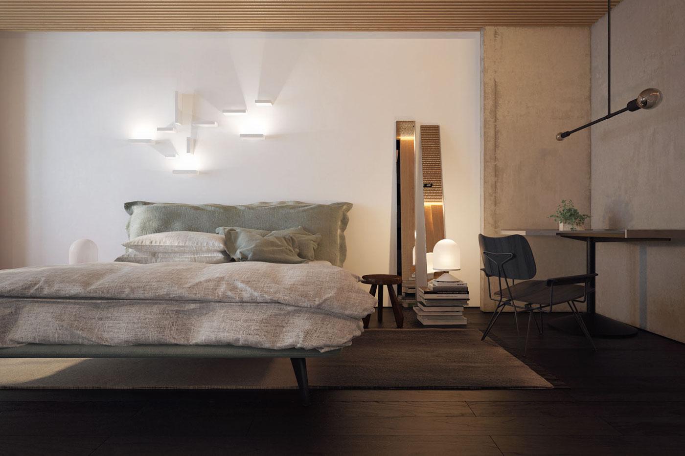 teal-duvet-bar-lights-inspired-bedroom