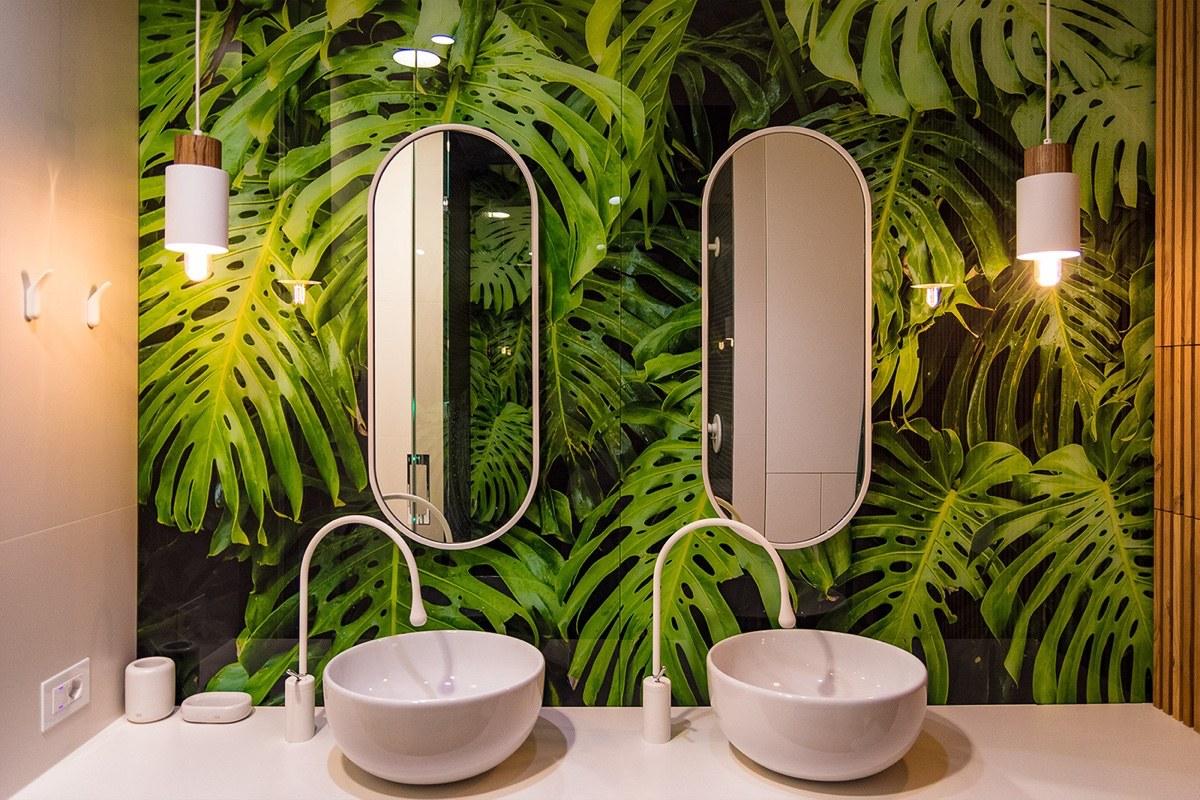 nature bath sink wallpaper