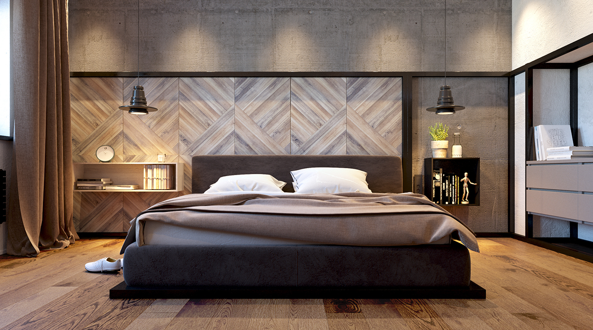 Modern minimalist bedroom designs with a fashionable decor for Bed minimalist design