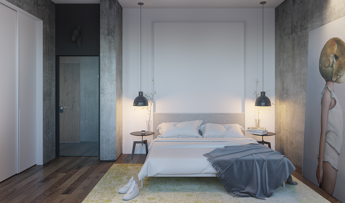 Modern minimalist bedroom designs with a fashionable decor Modern minimalist master bedroom
