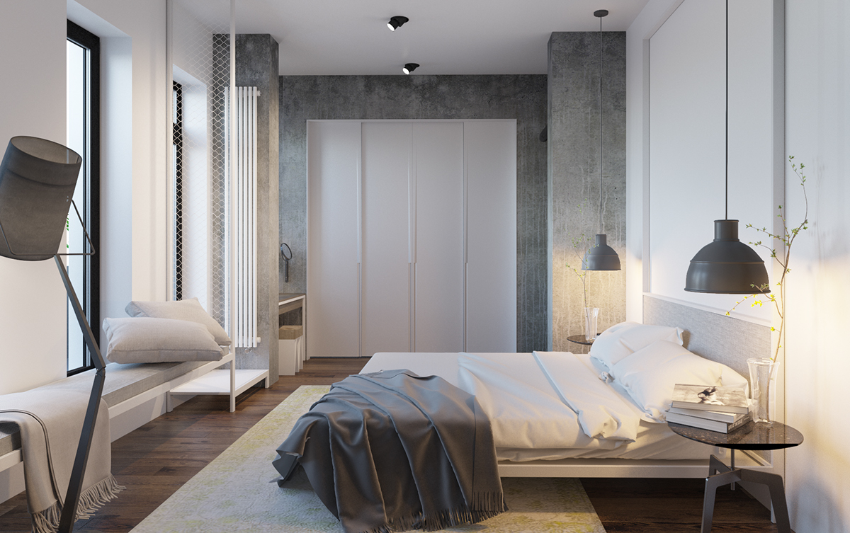 modern minimalist bedroom designs with a fashionable decor 16363 | olia paliychuk2
