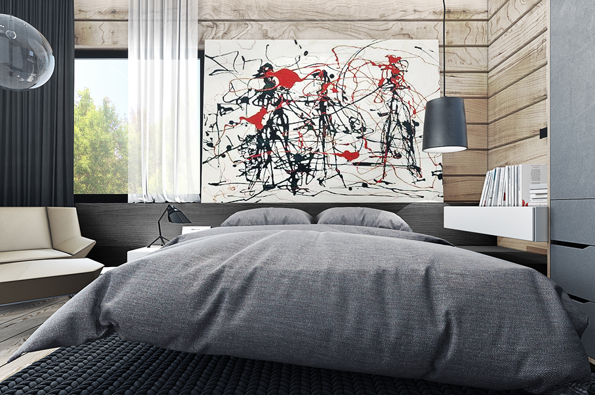 gray modern bedroom decor