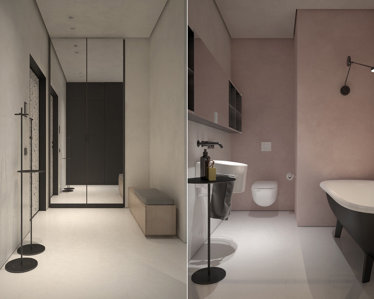 bathroom-mirror-bathtub-shelves-toilet
