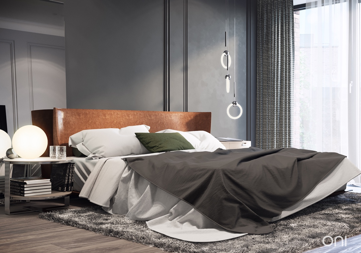 Trendy Gray Bedroom Design