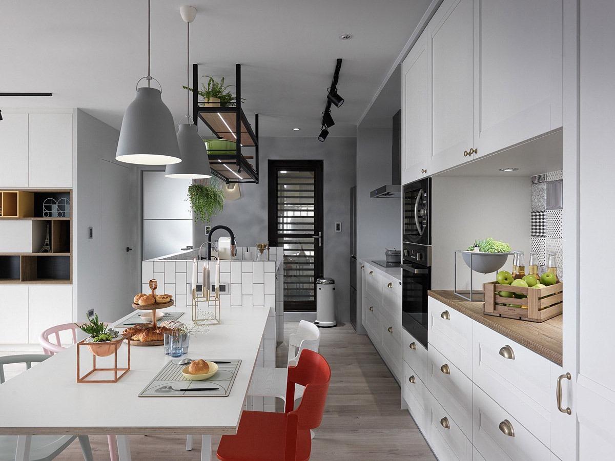 black-framed-door-kitchen-drawers