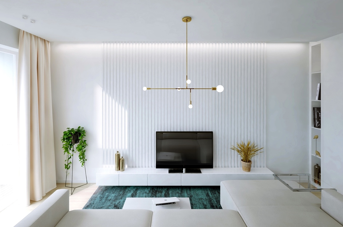 modern apartment decor with minimalist and natural neutral color