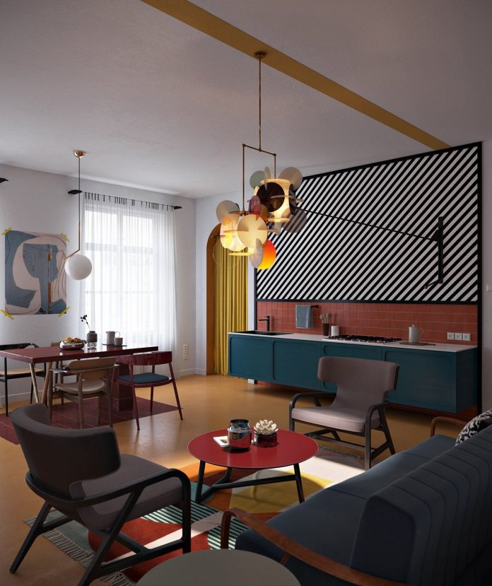 Beautiful Studio Apartment Designs Combined With Modern: 3 Amazing Studio Apartments Which Create With Interesting