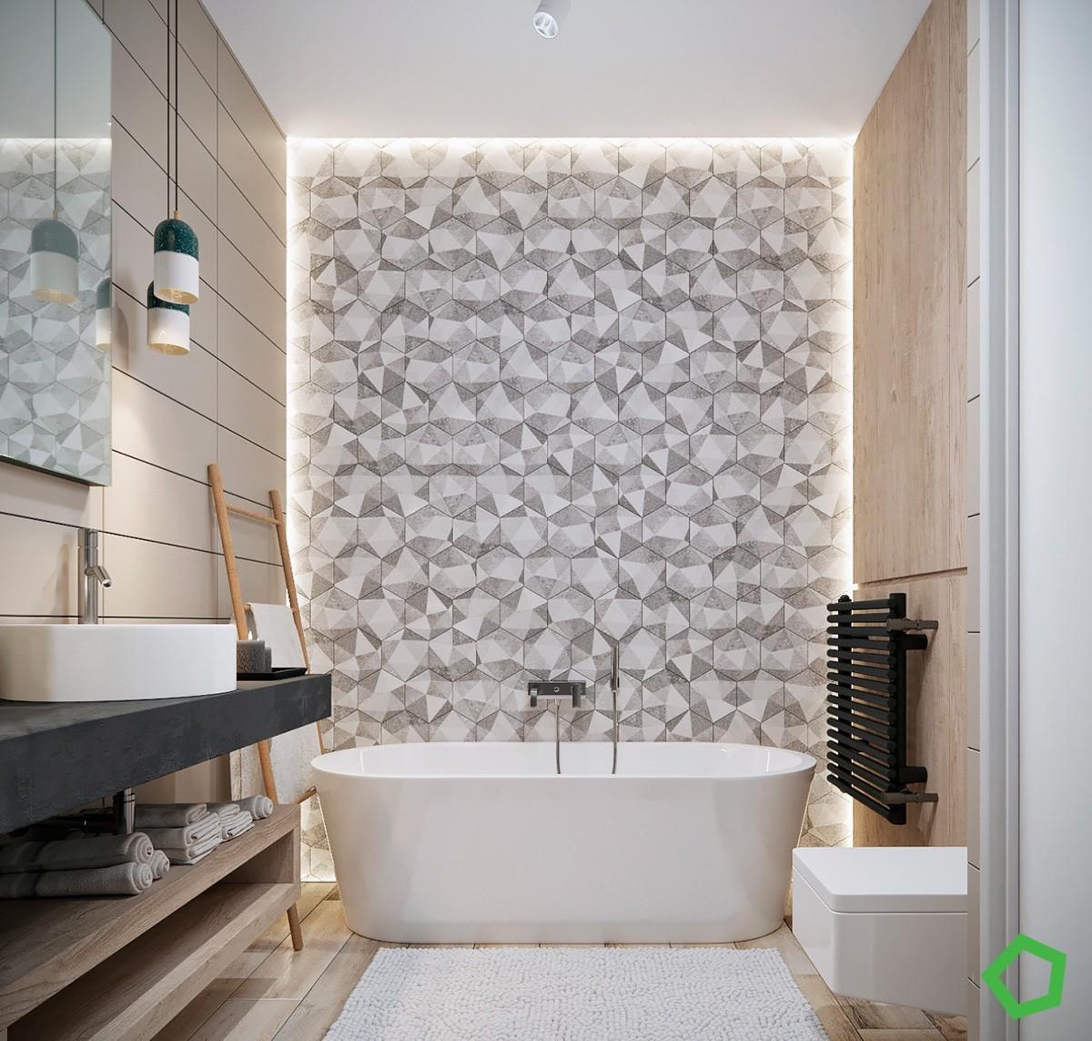 geometric-bathtub-accent-wall