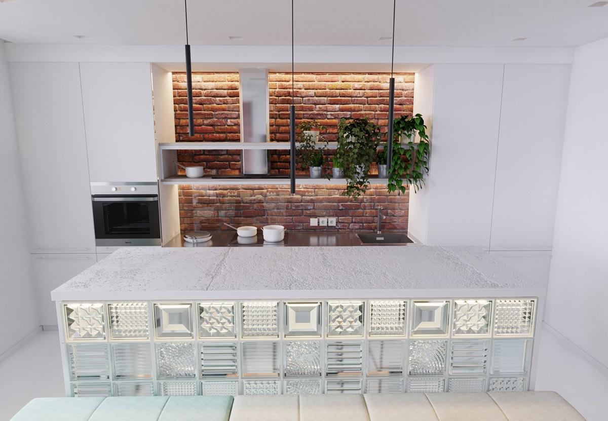 simple chic kitchen design