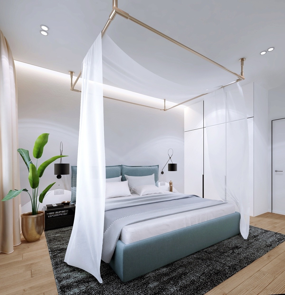green-and-brass-bedroom-design-theme