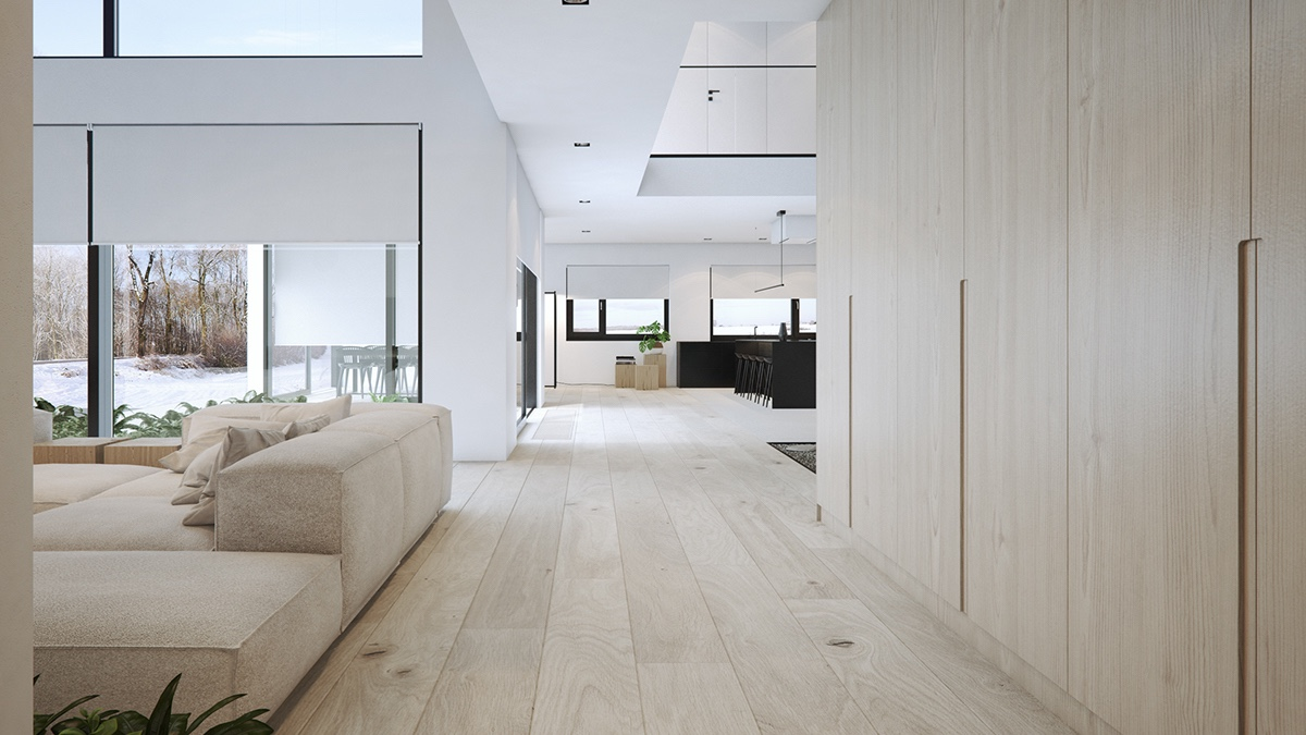 hallway-wood-floors-large-windows