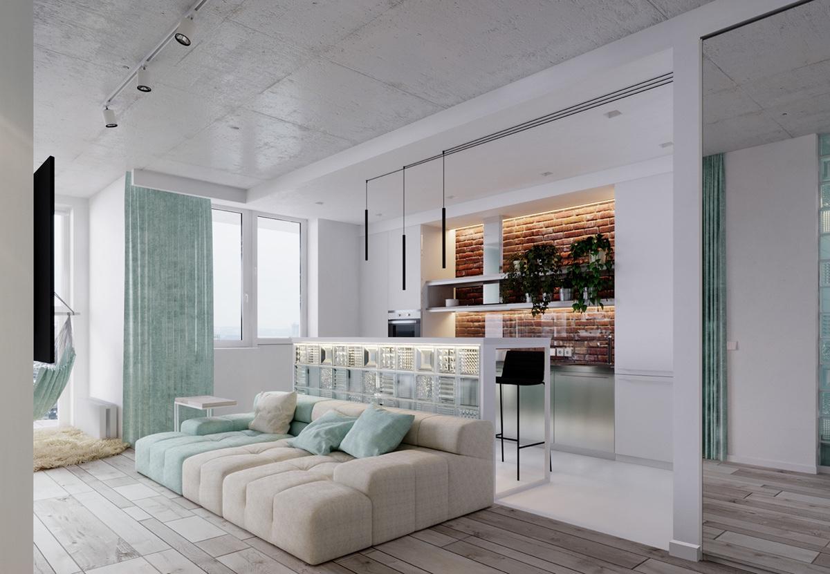 Unique apartment design applied with charming style decor - Small apartment interior design ...