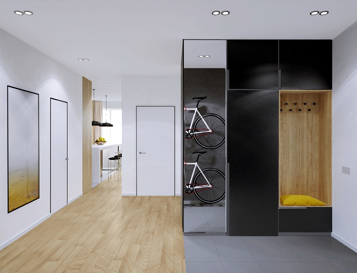 stylish-bicycle-storage-for-apartments