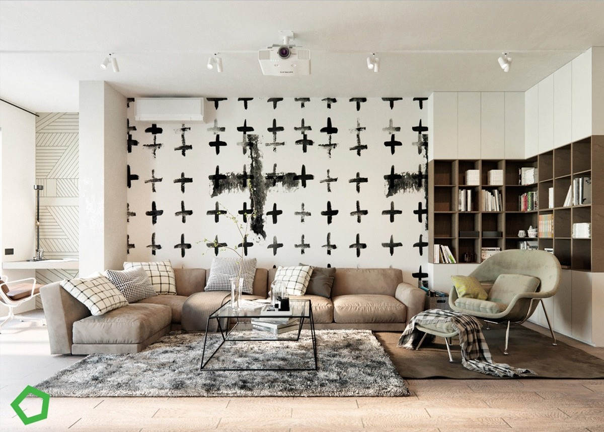 unique-graphic-accent-wall