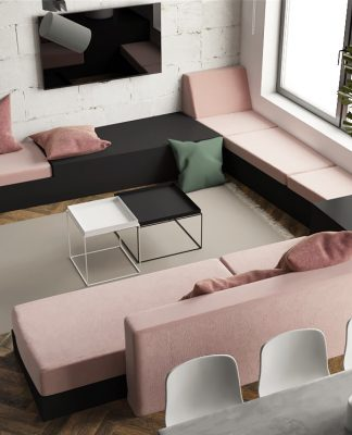 modern small studio apartment