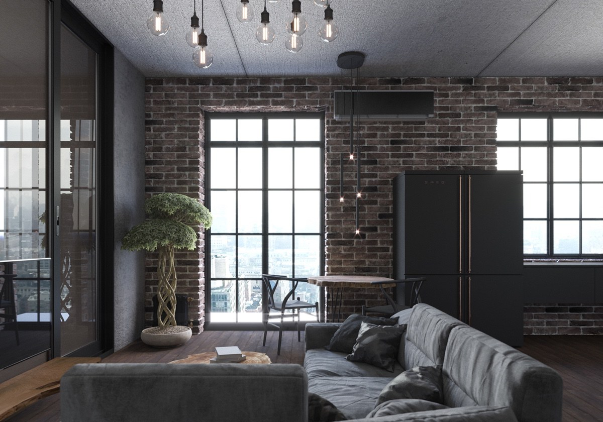 small gray living room design