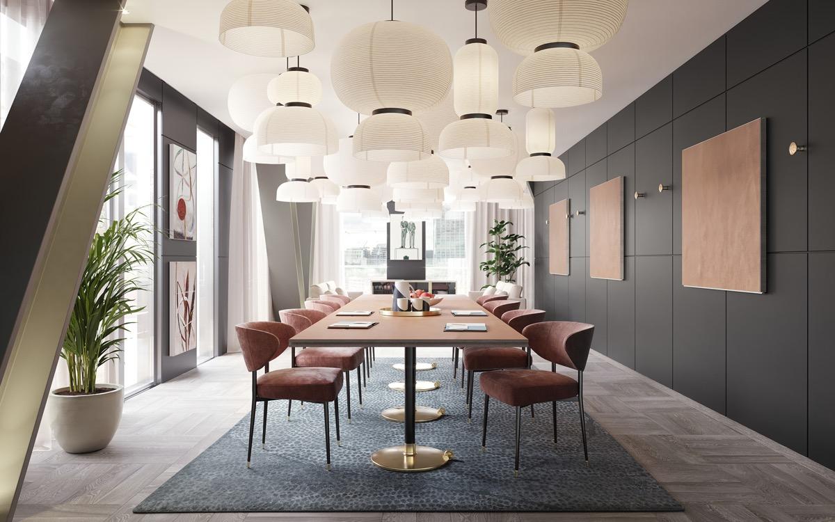 Chinese-lantern-inspired-dining-room