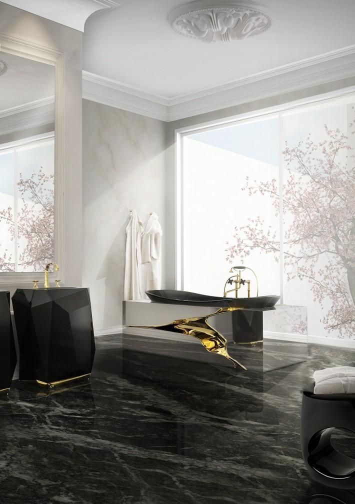 black and white luxury bathroom
