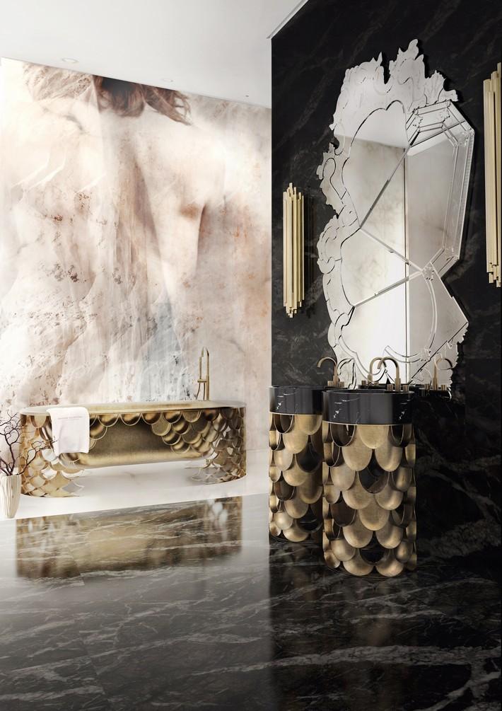 luxury monochrome bathroom