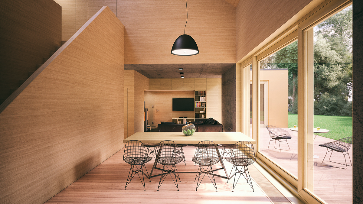 all-wooden-dining-room-mesh-chairs