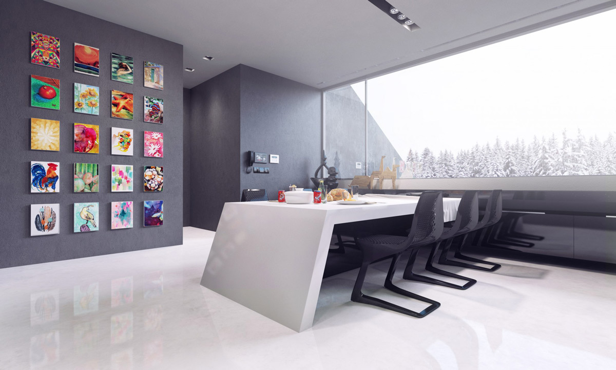 modern monochrome-dining