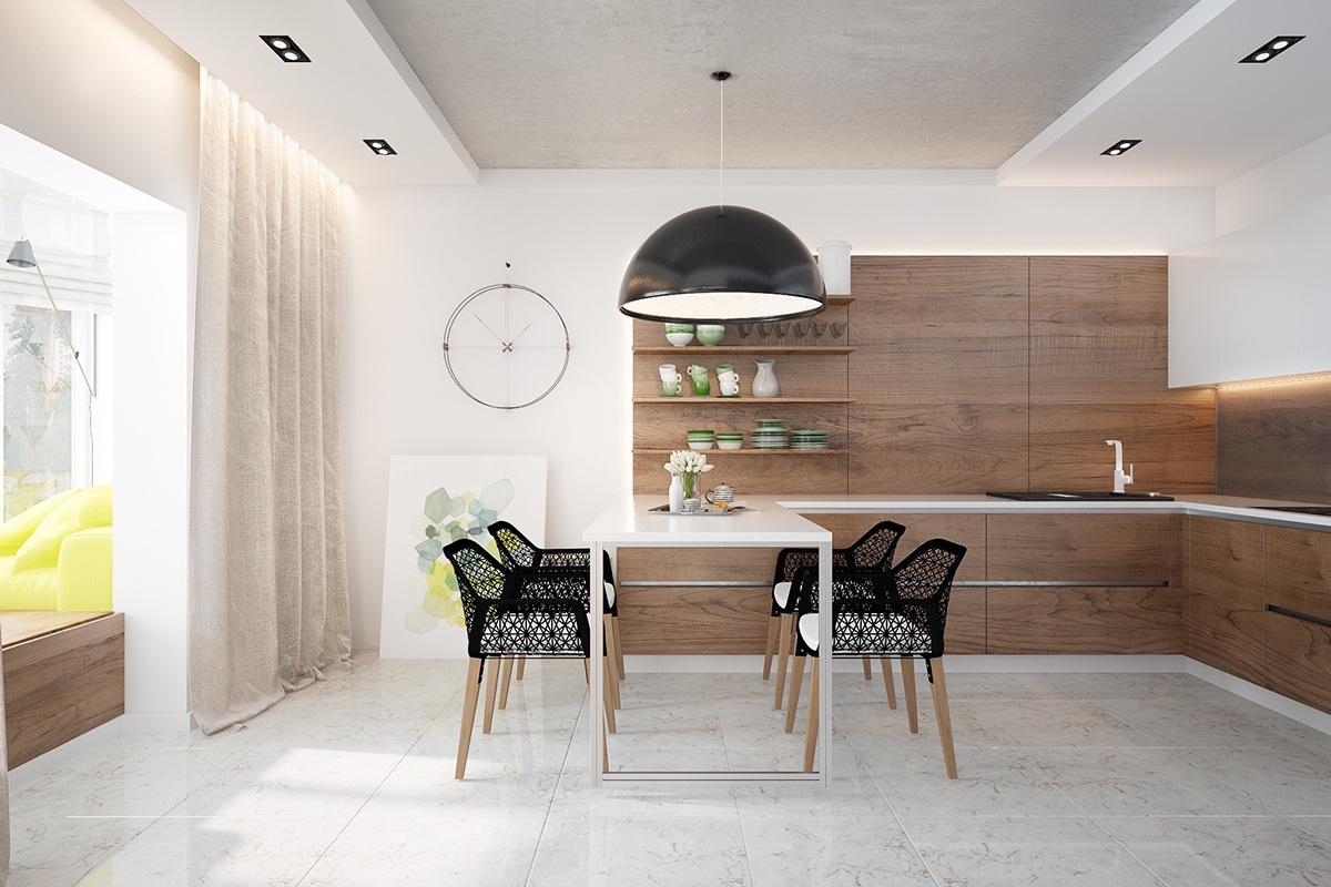 modern wooden dining room
