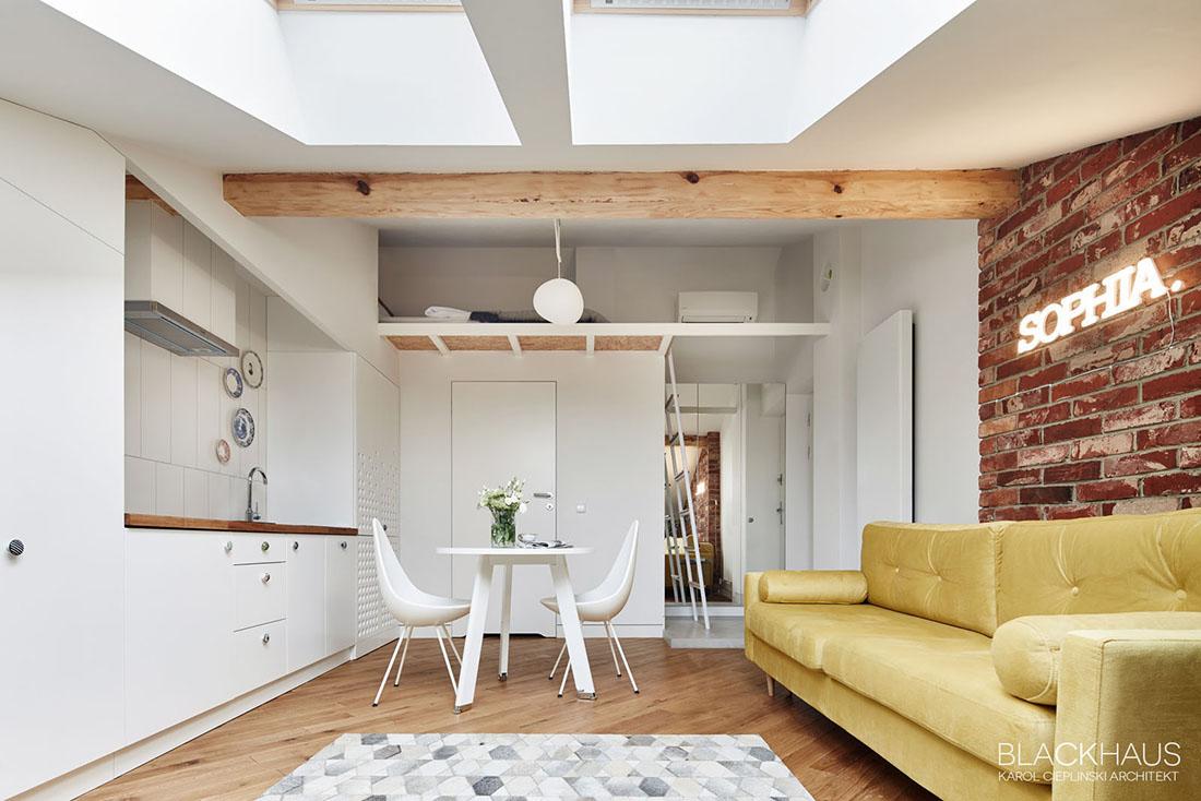 Open Plan Apartment Interior Design Ideas 3 fabulous studio apartments arranged with a stylish loft bedroom