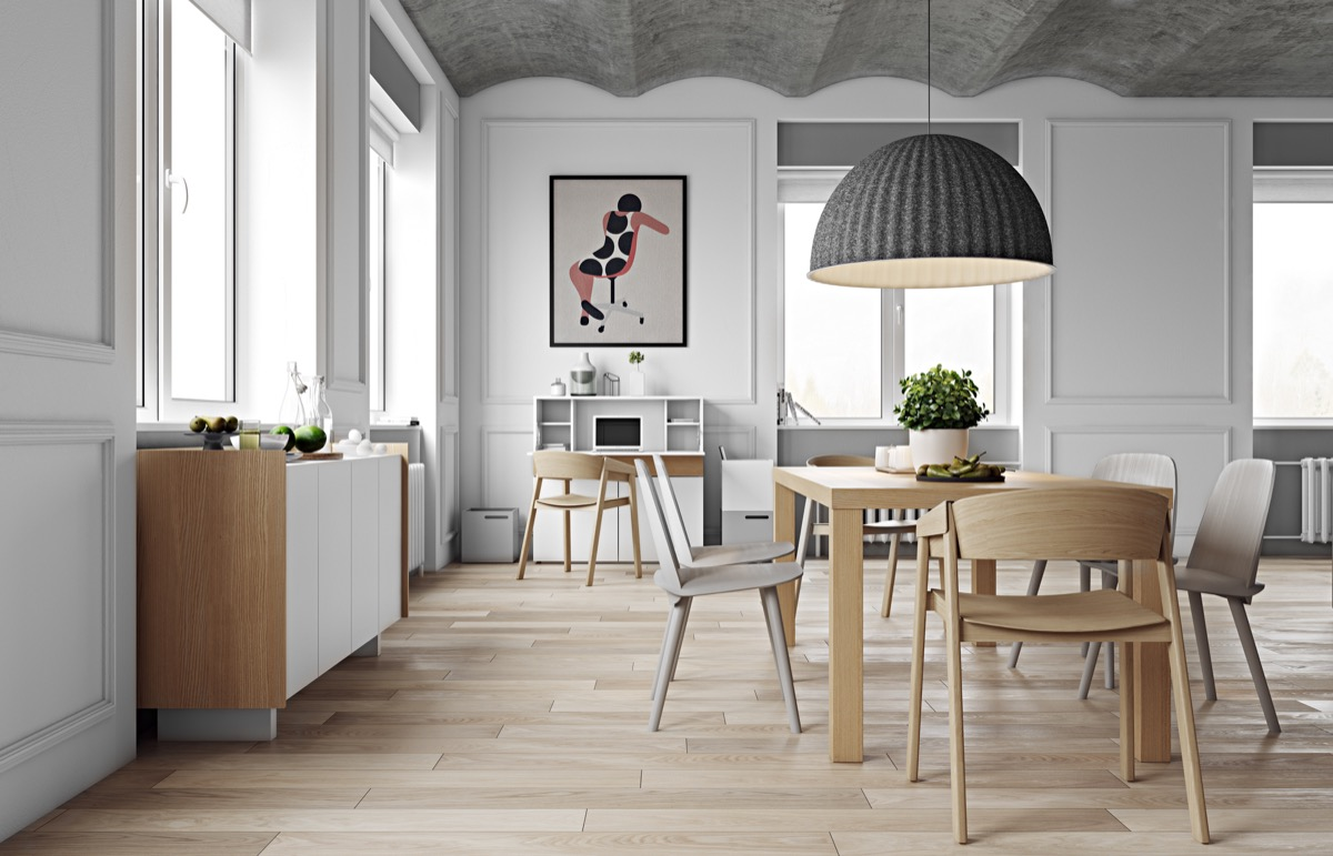 minimalist dining room design