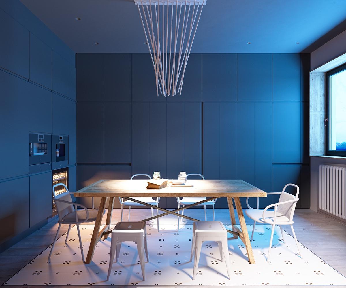 creative-light-fixture for modern dining